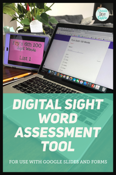 digital sight word tests dolch fry