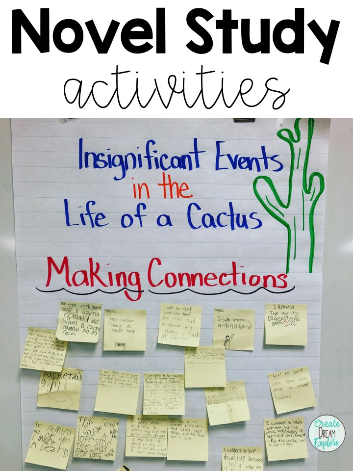 Insignificant Events in the Life of a cactus novel study activities