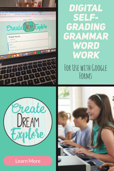 Digital grammar word work google classroom