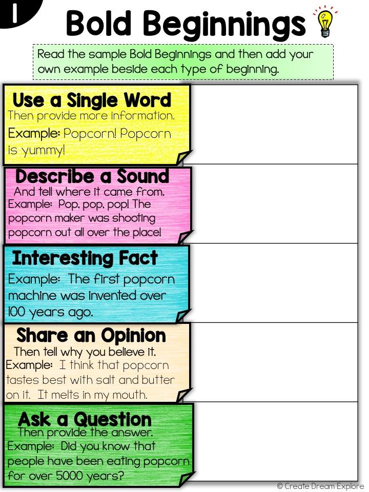 Digital Writing Activities Organization trait