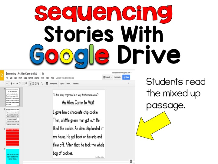 Digital story sequencing google classroom