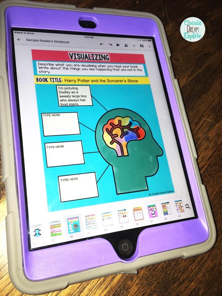 google classroom reading graphic organizers digital