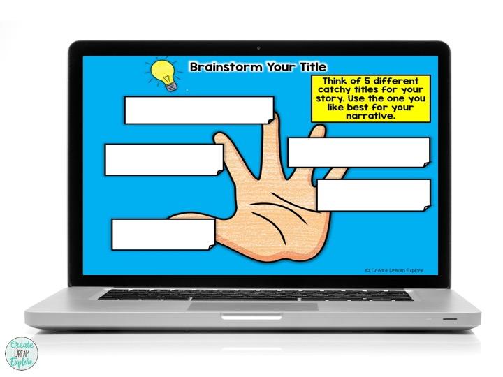 digital google slides graphic organizer story writing narrative
