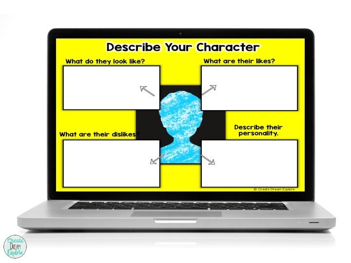 digital google slides writing graphic organizer story narrative