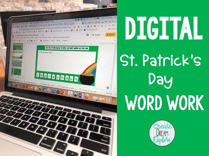 digital st. Patricks Day activities